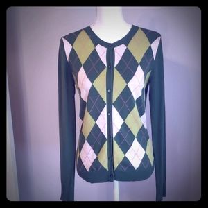 4 for $25 Argyle Cardigan